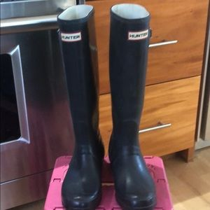 Hunter boots navy blue